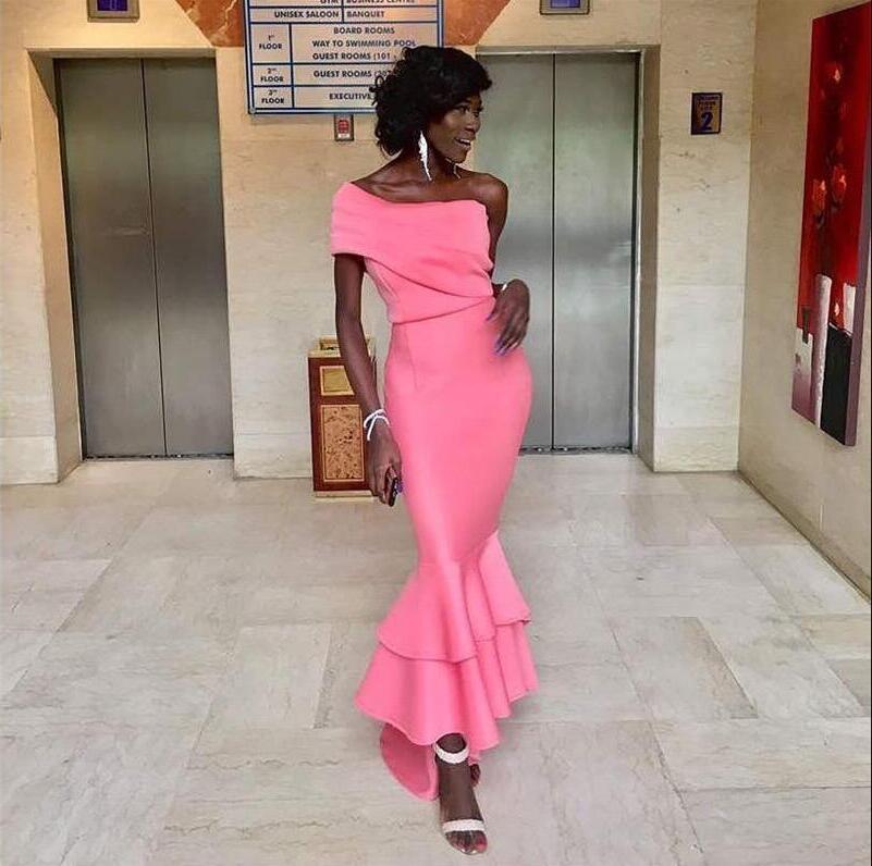 Розовое платье выпускного вечера русалки длинные формальные платья партии для женщин плюс размер платья выпускного вечера 2020