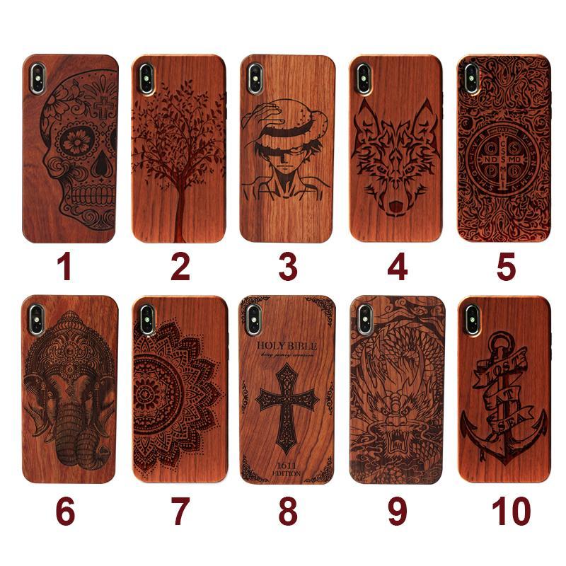 الغلاف مخصصة TPU خشبي الهاتف القضية للحصول على 11 برو ماكس لسامسونج S20 زائد روزوود الخشب الهاتف الخليوي مع واقية كاملة