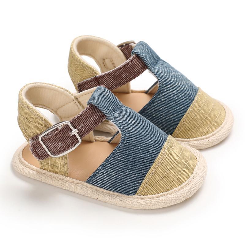 0-18M neonati E primi camminatori casuali respirabili coperto le dita dei piedi morbida per bambini scarpe da spiaggia Neonato Bambini Toddler Shoes