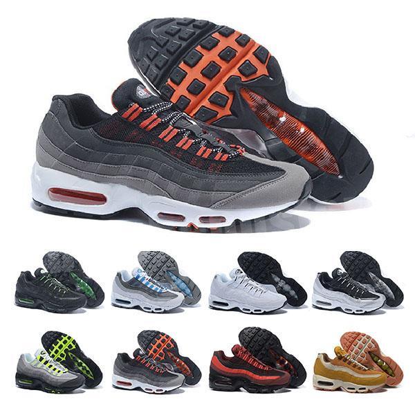 2020 Männer OG Kissen Navy Sport hochwertige Chaussure Wanderschuhe Männer Laufschuhe Kissen 95 Turnschuhe Größe 36-46 B7326