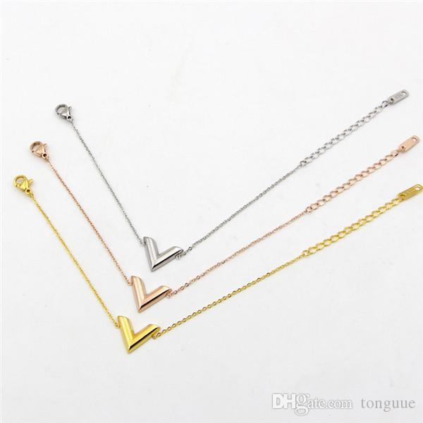 carta de la moda brazalete de acero de titanio estilo de las mujeres color de rosa plateado oro adornos de mano de color oro para evitar la decoloración