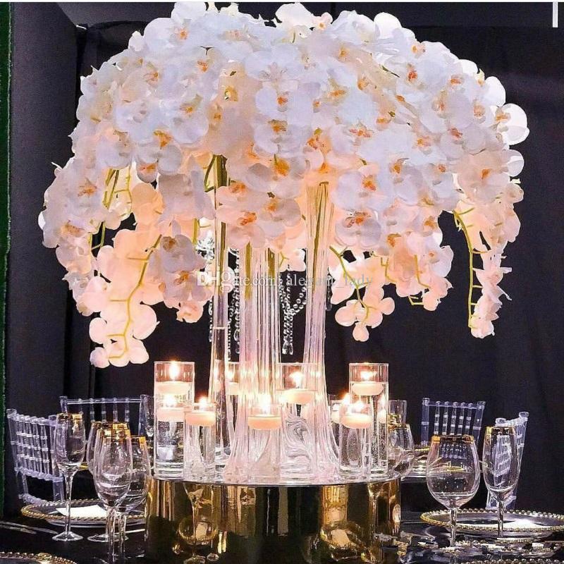 2020Hot بيع زهرة الحرير الاصطناعي فراشة السحلب الفراشة الأوركيد الجديد للبيت الرئيسية زفاف مهرجان الديكور
