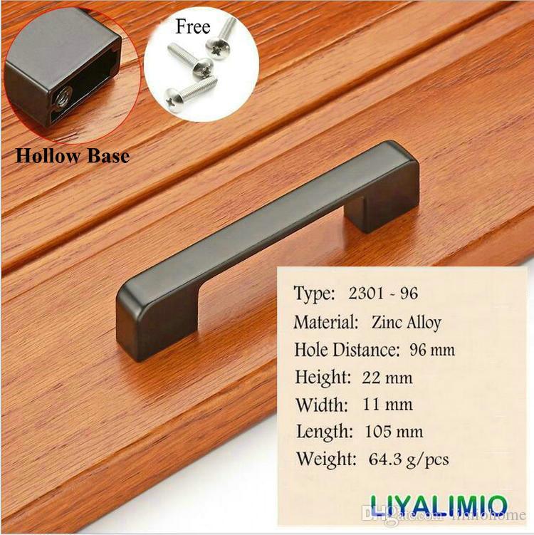 2301-96 матовый черный шкаф ручки американский стиль кухонный шкаф дверь тянет ручки ящика мода мебель ручка оборудования