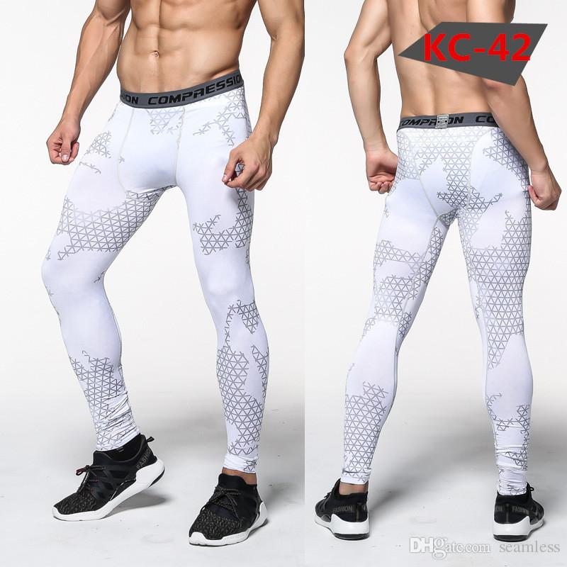 Wholesale 2019 New Fashion camouflage men pants fitness joggers compression tights long pants leggings mens wear jogginsg