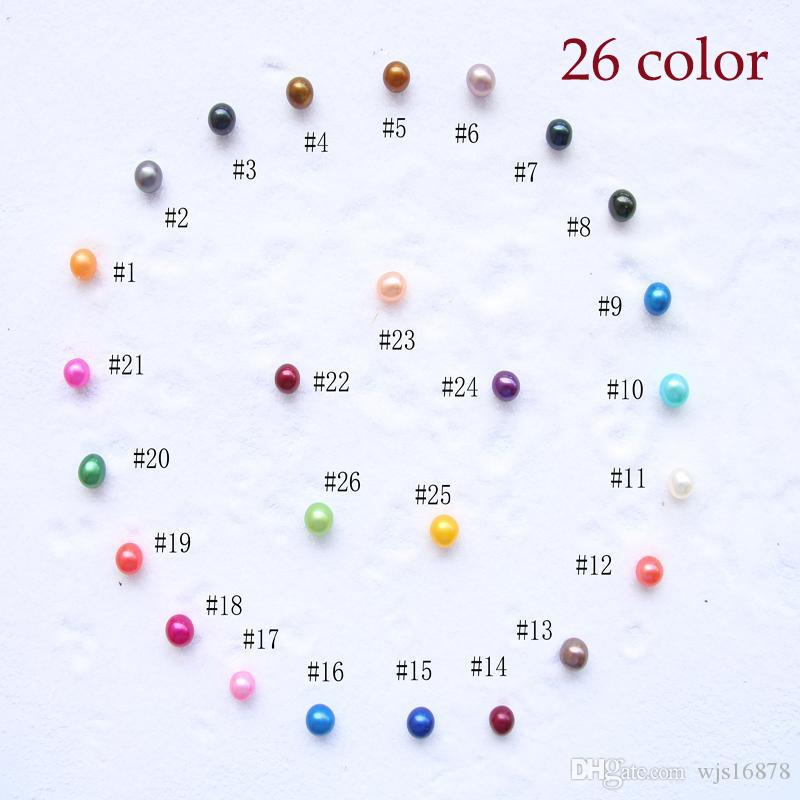 2020 yeni moda DIY boncuklar inci süs aksesuar Doğal tatlı su pearl 6-7mm Doğal Toplu renkli dereceli parçacık inci boncuk