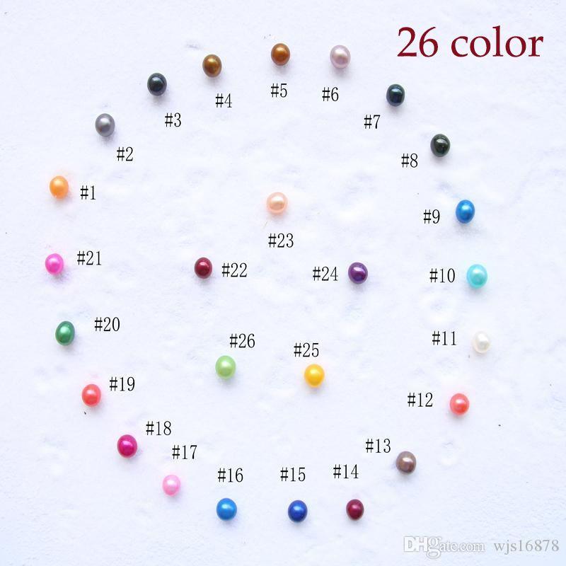 2020 nova moda contas DIY Natural de água doce pérola 6-7mm pérolas naturais de massa multicolor grau de partículas de pérolas de pérolas acessórios ornamento