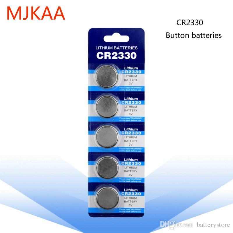 مصنع الجملة 100PCS CR2330 3V بطارية ليثيوم أيون 2330 BR2330 ECR2330 زر البطارية لعبة الساعات الإلكترونية بطارية