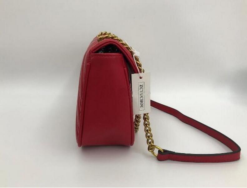Schulterbeutel der Frauen Art und Weise Lederhandtasche Metall-Diamant-Handtasche Leder diagonal Kette bag004