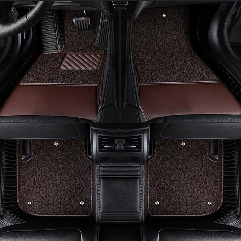 Personnalisés Tapis de sol auto ajustement pour Land Rover Discovery 3/4 LOGO 2 Sport Range Rover Evoque Sport tapis de revêtement de tapis de style de voiture 3D