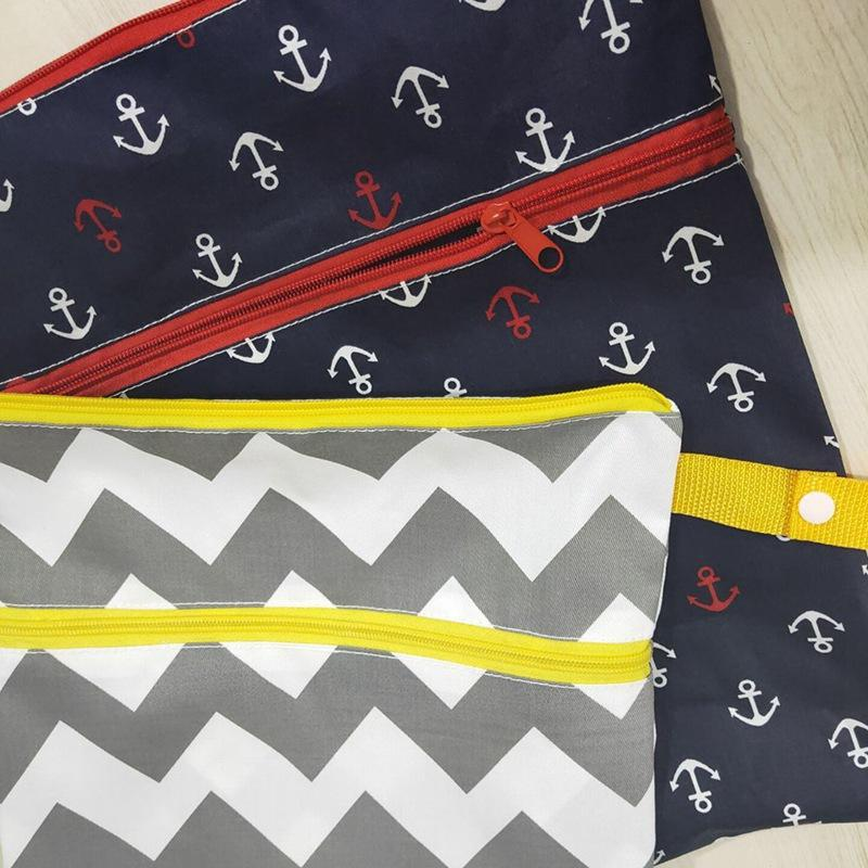 Bag Washable Dry Cloth Diaper Zipper Reusable Waterproof Storage Nappy Bags Wet Baby Bag Diaper Scfjq