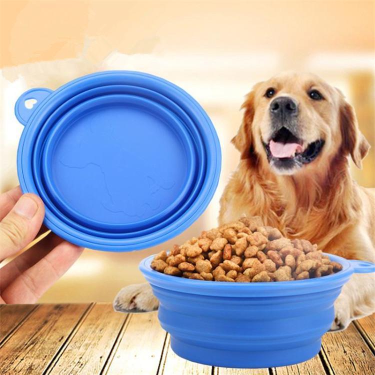 Piece-selling hot-folding bowl environmental protection silica gel pet bowl Portable Dog Food Food Bowl T9I0053