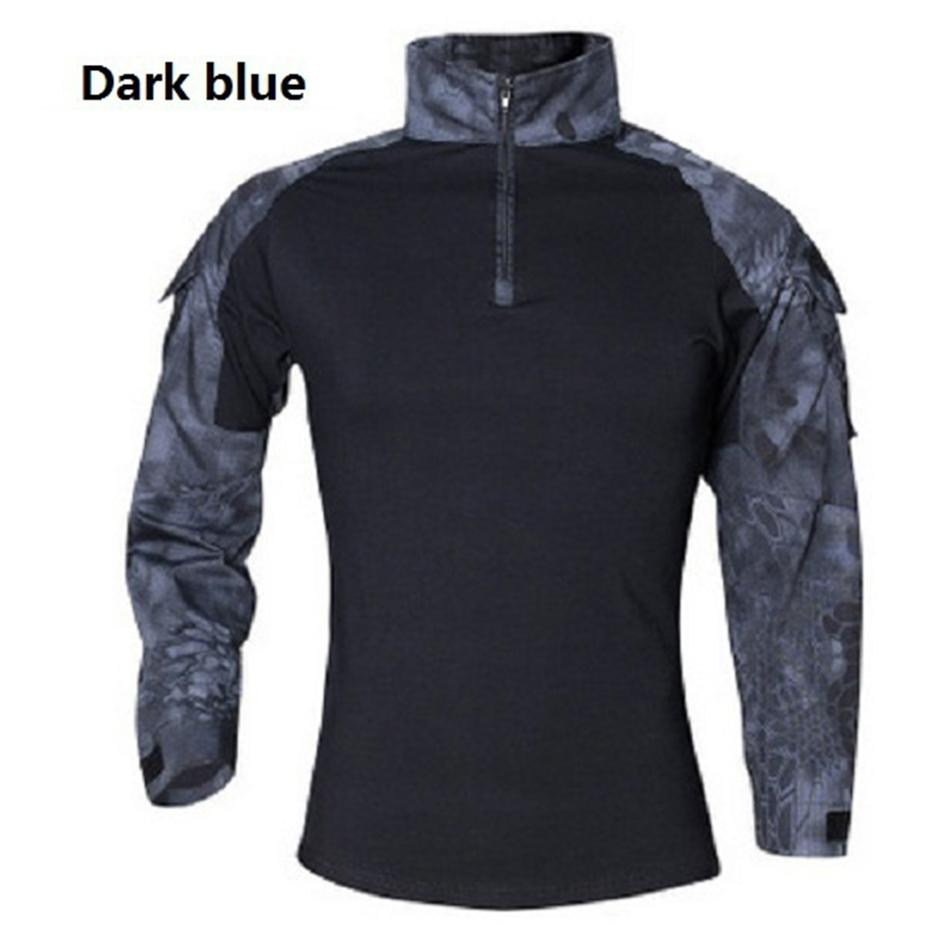 Abbigliamento di marca Masculina Spring Spring Manica lunga Nuova Camisa Dry Camouflage Tactical Men 2019 Autunno T-Shirt Army Shirt Uuljv