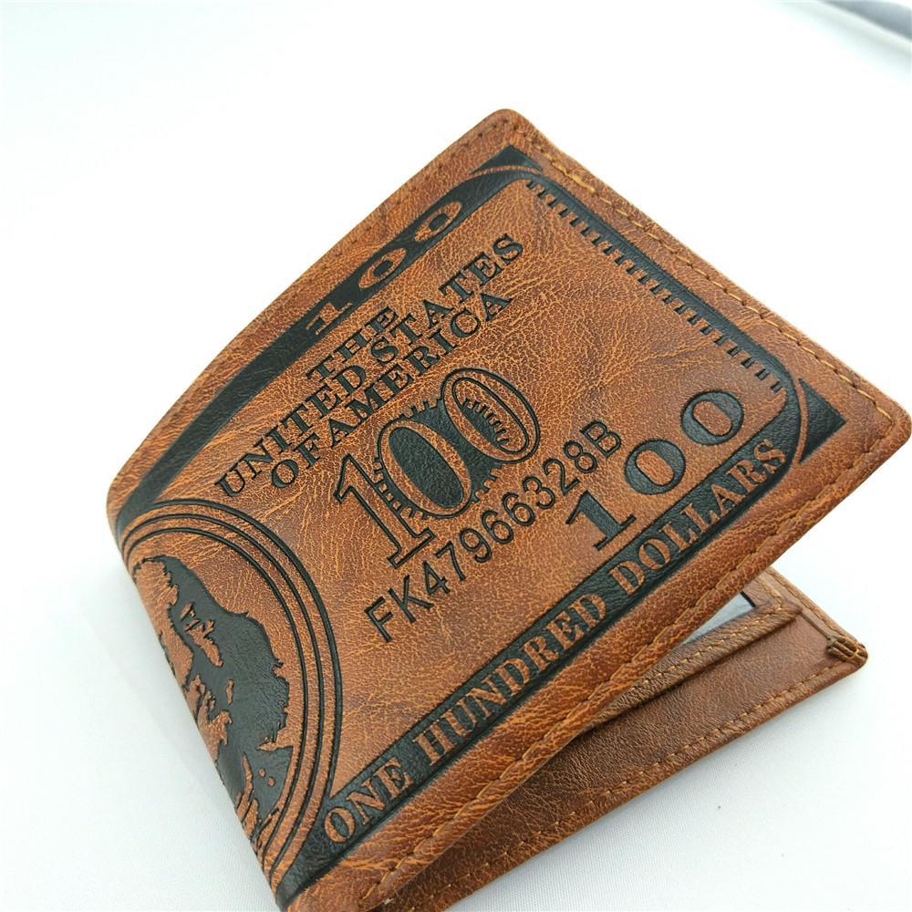 men dollar purse wallet leather designer card holders wallets Money Clip Dollar Bill Leather Card Holder Wallet Purse