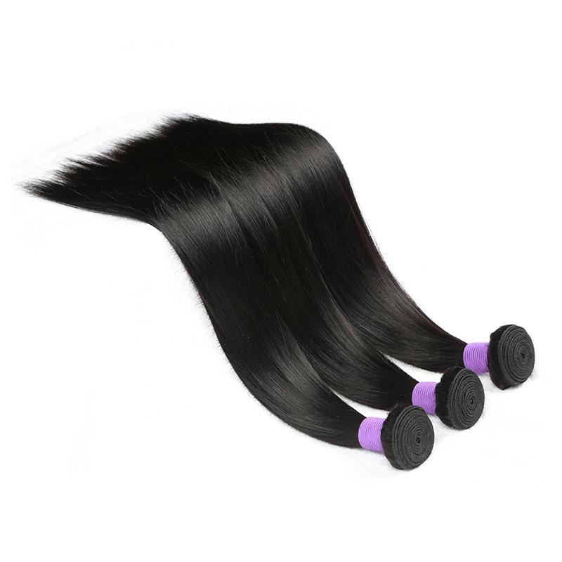 Marque Elibess pas cher Top qualité faisceaux de cheveux humains indiens tissages 300Gram 6pieces Lot 50gram une seule pièce, couleur naturelle trame de cheveux raides