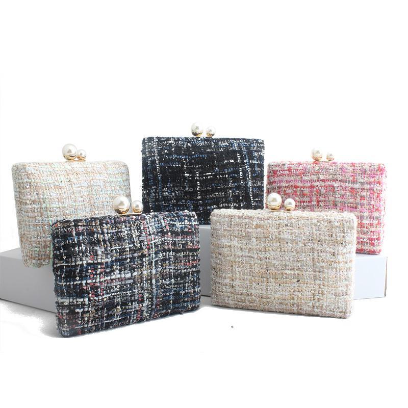 여성 2019 명품 핸드백 여성 가방 디자이너 면화 뜨개질 클러치 저녁 가방 명품 어깨 가방 T191010을위한 볼사의 feminina 가방