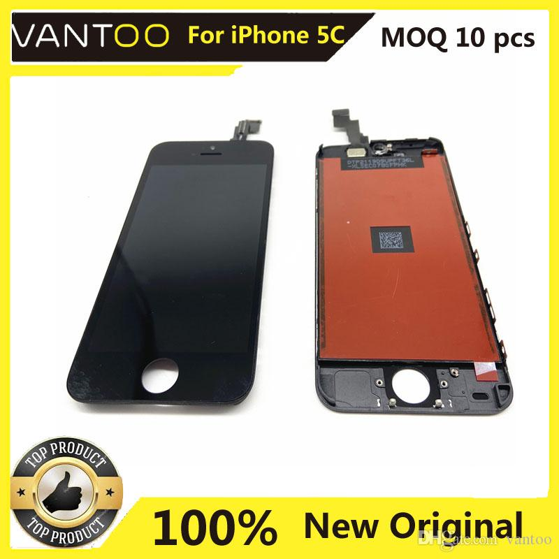 For 100% Original iPhone 5C LCD Touch Screen iPhone 5c Original Mobile Phone Display Free DHL Shipping