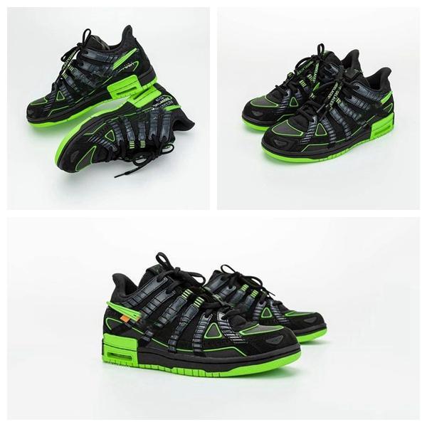 2020 أحذية جديدة أفضل نوعية WHITE المطاط دونك العشر أوروبا WHITE 2.0 شيكاغو فيرجيل أخضر أسود UNC كرة السلة التدريب شقة