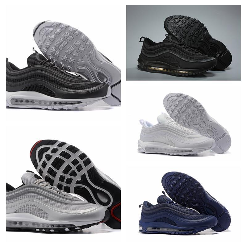 Compre Nike Air Max Original Barato Hombres Mujeres Deportes Al Aire Libre Zapatos 97 OG NRG 97S SE Plus QS PRM Diseñador De Lujo Oficial Zapatillas