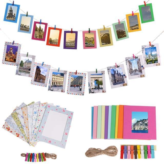 Foto quadro DIY Kraft Picture Frame Papel Photo Album 3/4/5/6/7 polegadas Tapeçaria Photo Frame para fotos de casamento decoração Home