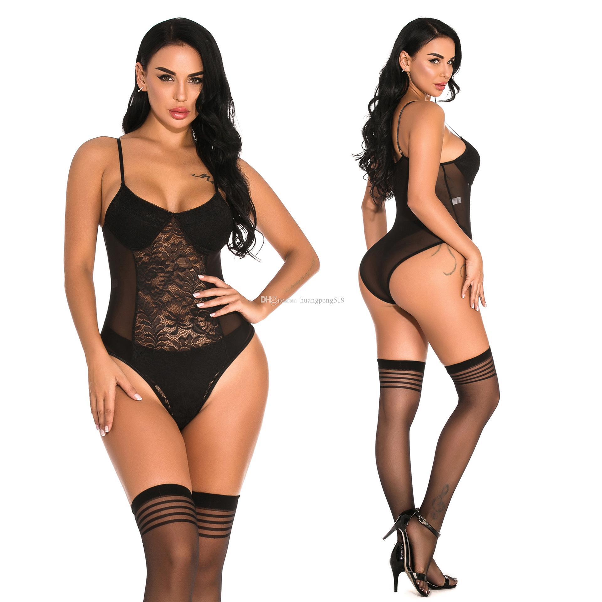 Европейский и американский популярные сексуальное нижнее белье женщин регулируемая пряжка слинг кружева бикини длинные трубки шелковые носки пижамы набор 9912
