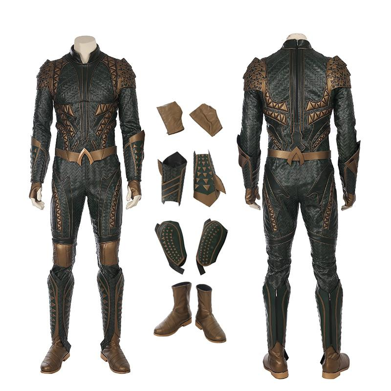 Aquaman Costume Justice League Cosplay Arthur Curry Ensemble complet Version Deluxe