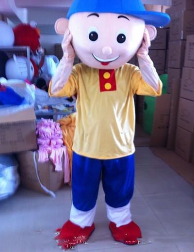 Trajes personagem tema do traje da mascote Caillou Top Quality desenhos animados Caillou Boy Anime partido do carnaval de Natal