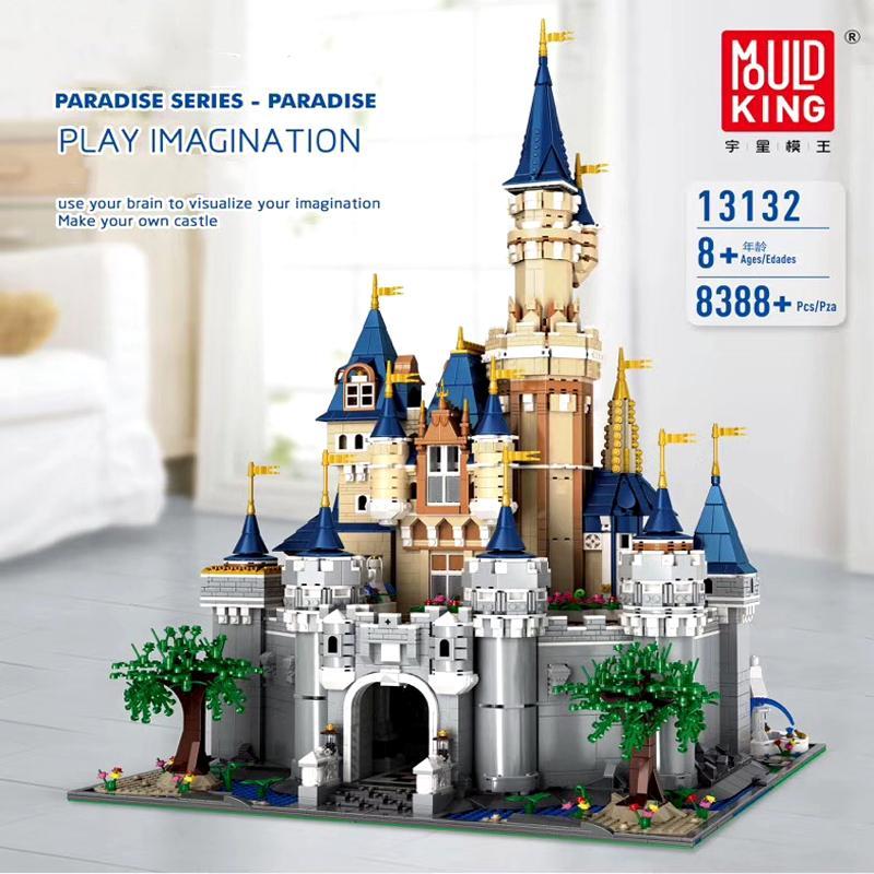 13132 8388Pcs Рай принцесса Замок Золушки Мечта Создатель UCS Set Строительные блоки Кирпич 71040 16008 Детские игрушки Подарки