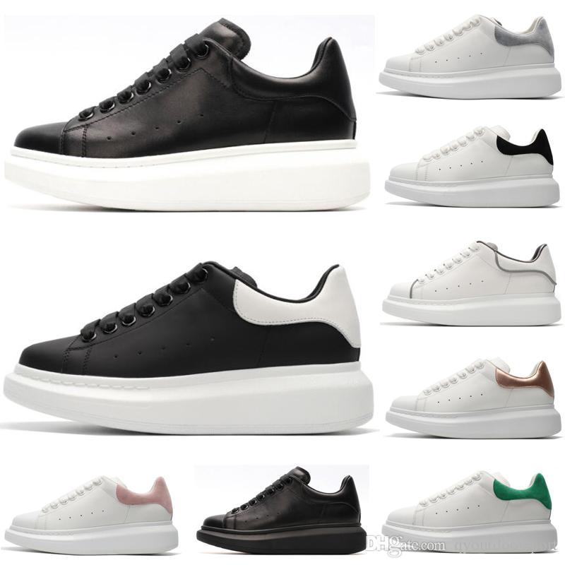 2020 أحذية للنساء أزياء الرجال الجلود أحذية رياضية 3M عاكس سوليد سميكة المخمل الأسود شقة الارتفاع زيادة الأحذية الكاجوال 36-45