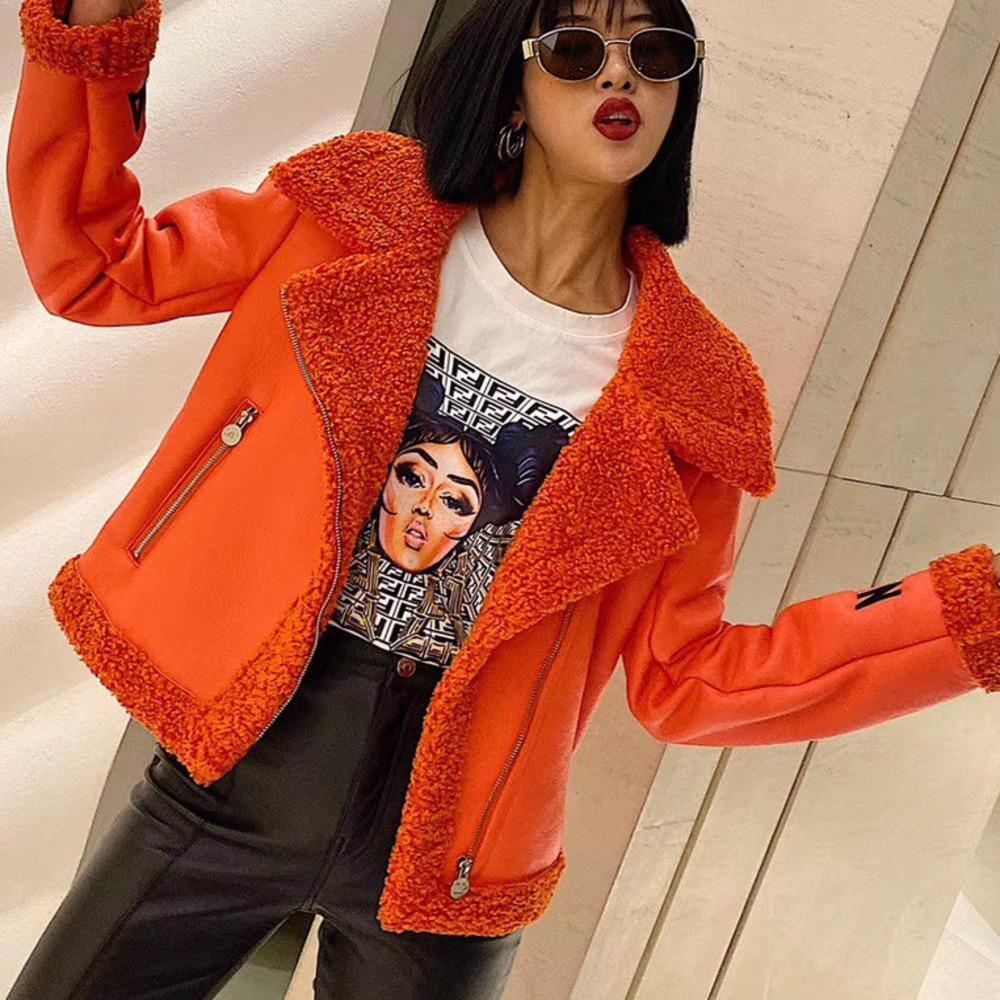 Женская куртка Азиатского размер S-XLWSJ012 Высокого качества Классических вышивки Nail Drill Толстого Локомотив Кожа Гламур Jacket9688