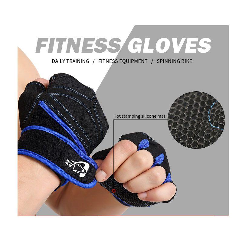 S-XL Gym Guanti Sport Esercizi pesi Bodybuilding traspirante Anti SlipTraining dita manubri Men Fitness Guanti