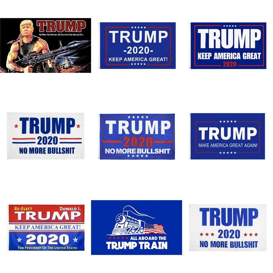 2020 Amerika Başkanı Seçim WW3 Donald Trump Tankı Bayrak 3 * 5 ft tutun Amerika Büyük Banner 90 * 150cm # 140 Malzemeleri