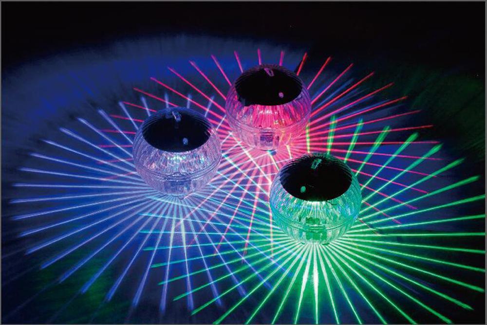 بركة أضواء العائمة في الهواء الطلق لون الطاقة الشمسية تغيير تنجرف المياه LED أضواء العائمة الكرة بركة بركة مسار أفقي