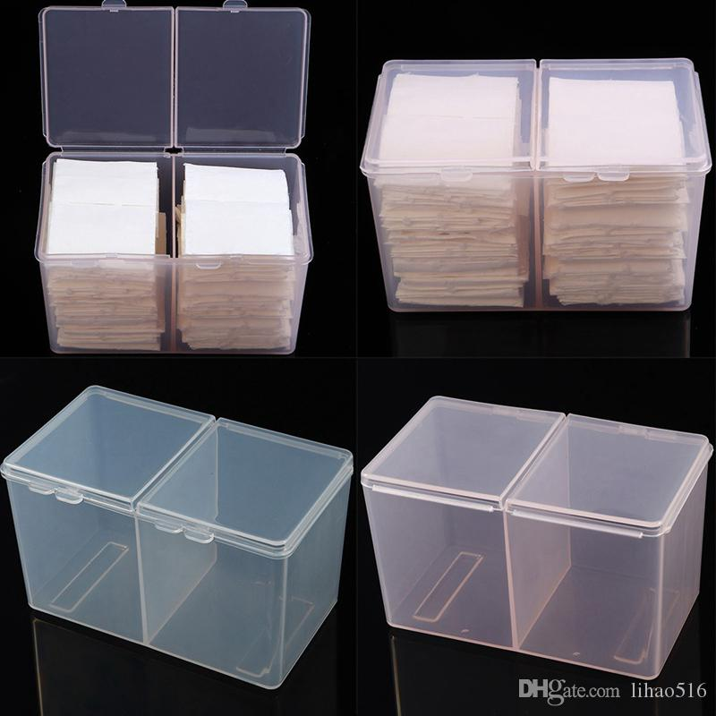 Cotton Pad Box Nail Art Remover Paper Wipe Holder Container Storage Case with 300pcs Cotton Wipes UV Gel Cleaner Lint Dust Free towelNA092