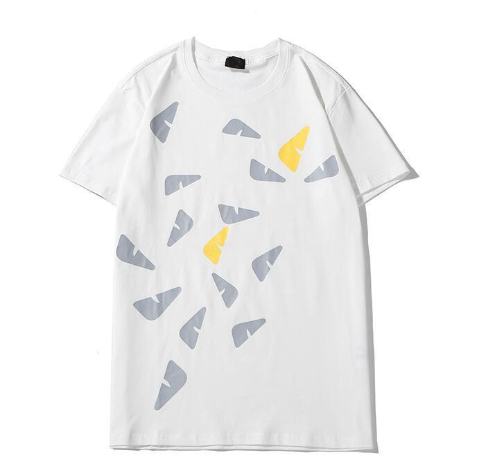 Горячая распродажа мужская дизайнерская футболка Мужчины Женщины Повседневная черная белая летняя футболка мода уличная одежда с коротким рукавом размер S-XXL