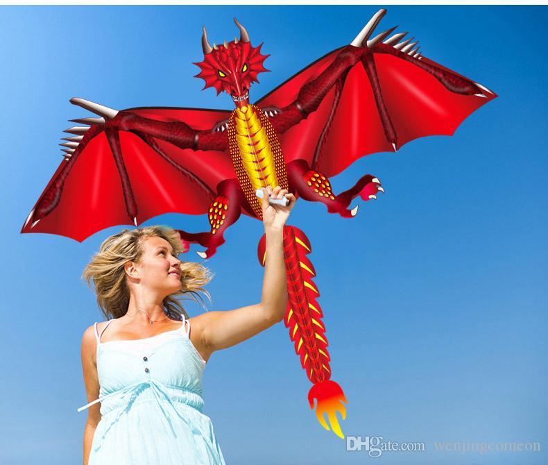 100M 연 라인 3D 익룡 연 동물 공룡 연 긴 꼬리 한 줄 용의 연 야외 스포츠 재미 장난감 연 어린이 선물