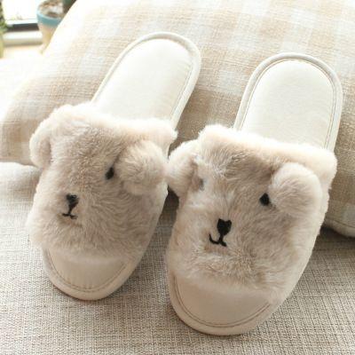 2018 зима милые животные тапочки Главная меховые тапочки теплый крытый женщин овец тапочки нескользящей обувь для дома Спальня ST01