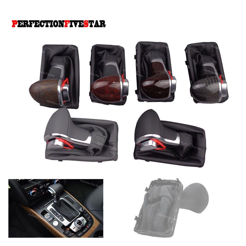 4GD713139 Chrome POMMEAU en cuir noir Gaiter Boot AT LHD seulement pour A3 A4 B8 A5 A6 C6 Q5 Q7 2009 2010 2011 2012 2013
