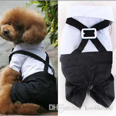 panDaDa 2018 New Western Style Men's Suit & Bow Tie Clothes for Small Pet Dogs Clothes Puppy Apparel Jumpsuit
