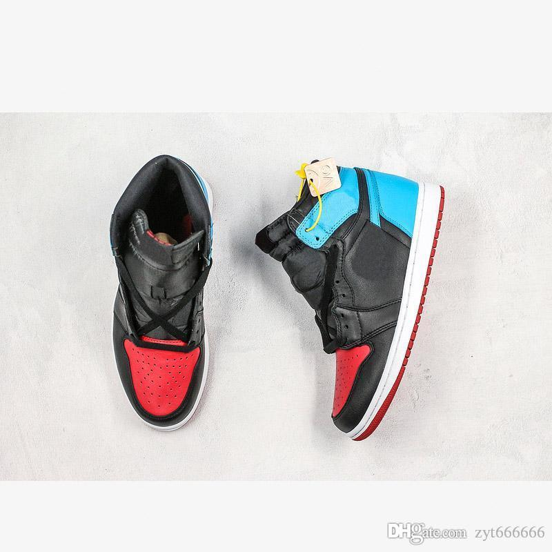 NKJ01A 2020 New Release High 1 OG Brand WMNS UNC To Chicago Basketball Shoes Men Women Fearless Black Blue Gym Red CD0461-046 Sneakers