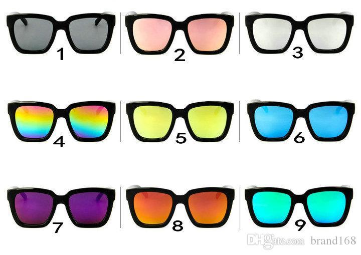(ÇIN'DE YAPıLAN) 9 Renkler Yeni Klasik Dazzle kare güneş gözlüğü unisex spor güneş gözlüğü Açık bisiklet güneş gözlükleri Mix Göndermek