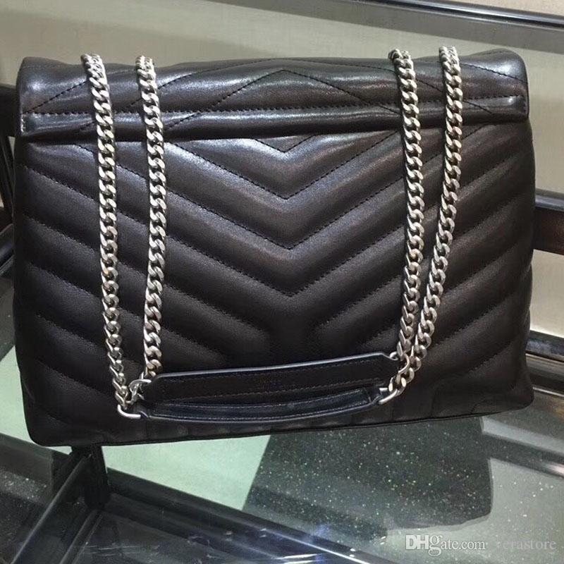 Verastore Lou 32 سنتيمتر جلد الخراف الأعلى جودة المرأة حقائب النساء حقائب مصمم حقيبة الكتف الإناث