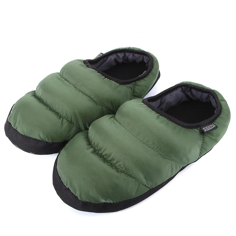 D'hiver Hommes Pantoufles Maison Pantoufles En Peluche Dames Maison Pantoufles Noir Chaussures D'intérieur Femme Réchauffer Bas Flip Flops Diapositives
