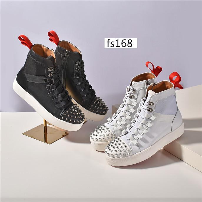 Мода новых мужчин кроссовки Красный бегунок Донна плоская резиновая обувь Женская красной подошвой Спайк роскошные туфли на плоской тренеры размер 36