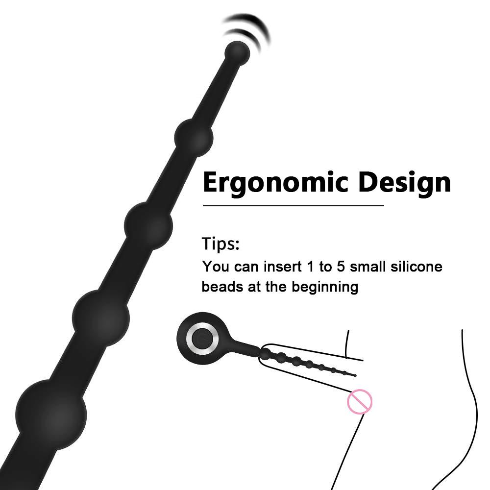 Male Plug MX191228 Urethral Vibrator 10 Modes Urethral Men Dilator Sex Vibrating For Glans Male Masturbator Toy Stimulator Silicone Pen Uvop