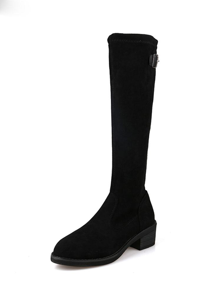 elástica roja botas delgados otoño e invierno femenina nuevas botas altas de las mujeres del salvaje con botas de moda