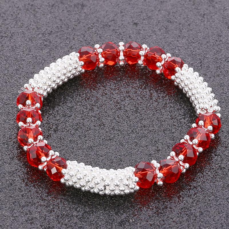 novas 10pcs / lot vidro de cristal contas pulseira Sorte Encantos Bangle presente