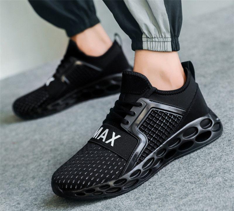 2019 de haute qualité chaussures sauvages de créateurs de mode respirant espadrilles noires espadrilles bleu rouge de chaussures de course légers pour hommes