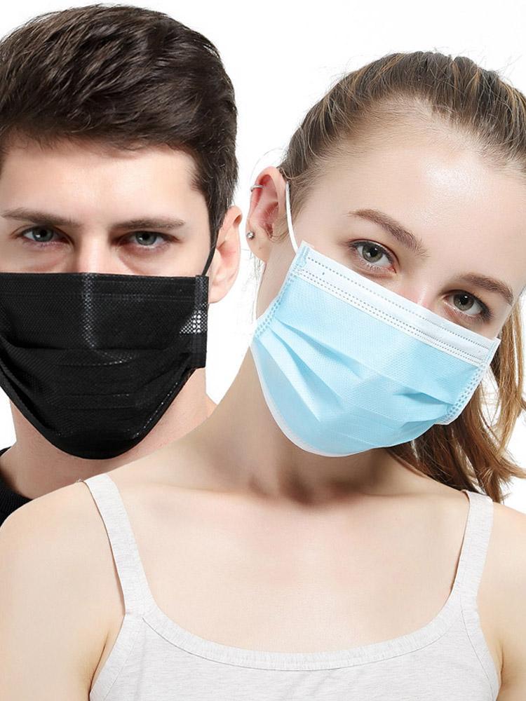 Защитная маска одноразовые нетканые маски трехслойный фильтр Антипылевой микроб рот нос маска для лица пылезащитная маска с мешком