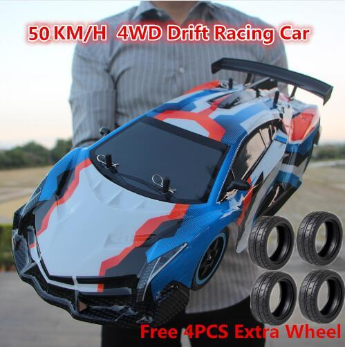 New RC Car 2.4G 1:10 4WD Drift Racing Car High Speed Champion Car Remote Control Vehicle Model Electric Children Hobby Toys