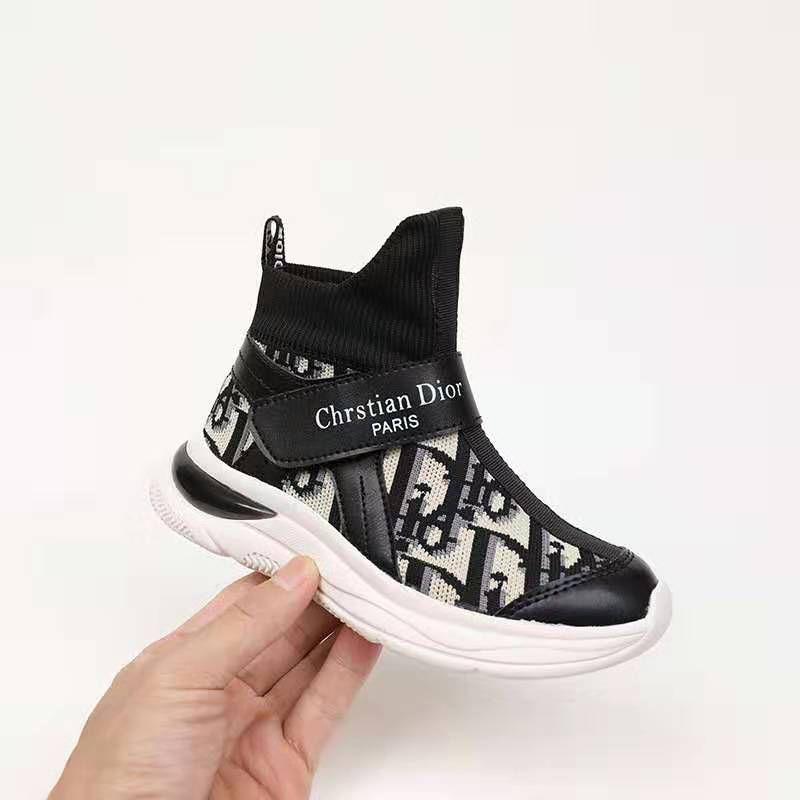 Kid Shoe Black Run Shoe Sneakers For